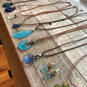 Jewelry - Recycled and Hand-blown Glass Jewelry